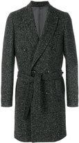 Paolo Pecora herringbone motif coat