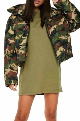 Fashion Star Womens Ladies Tunic Pullover Oversized Short Sleeve Round Neck Baggy T-Shirt Mini Dress | Tunic Dress | Pj Dress | Casual Tops | T-Shirt Dress Royal Blue Plus Size (UK 24/26)