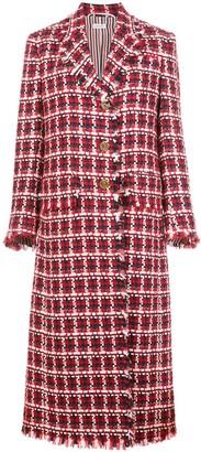 Thom Browne Checked Tweed Overcoat