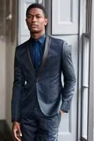 Mens Next Blue Paisley Jacquard Suit: Waistcoat