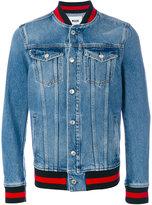 MSGM contrast trim denim jacket - men - Cotton/Polyester - 46