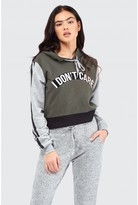Select Fashion DON'T CARE CROP HOODIE - size 6