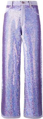 Ashish Wide Leg Sequin Jeans