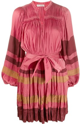 Ulla Johnson Pleated Colour Blocked Dress