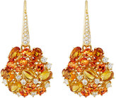 Roberto Coin Fantasia 18k Diamond, Topaz & Citrine Drop Earrings