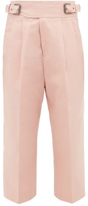 Marni Buckled Cotton-blend Cropped Trousers - Pink