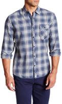 Jeremiah Wolfe Brushed Twill Long Sleeve Plaid Shirt