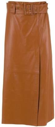 Nk midi leather skirt