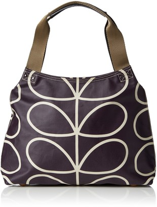 Orla Kiely Women's Matt Laminated Linear Stem Classic Zip Shoulder Handbag