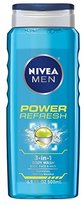 NIVEA Men Power Refresh Body Wash 16.9 Fluid Ounce (Pack of 3)
