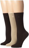 Lauren Ralph Lauren Tipped Rib Trouser 3 Pack Women's Crew Cut Socks Shoes