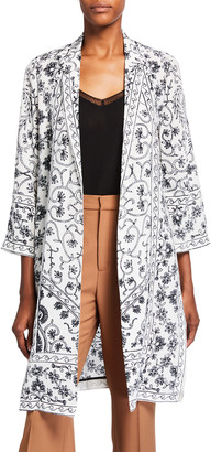 Kobi Halperin Suzette Printed Silk Coat