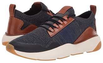 Cole Haan ZEROGRAND All-Day Trainer with Stitchlite (Marine Blue Knit British Tan/Ivory/Gum) Men's Shoes