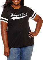 Arizona Doing My Best Graphic T-Shirt- Juniors Plus