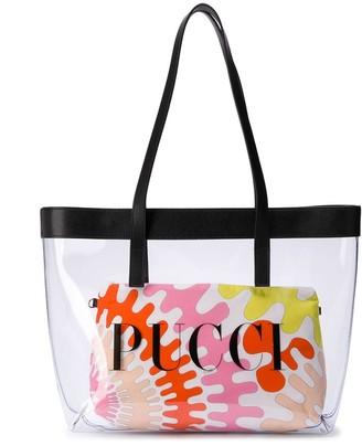 Emilio Pucci Junior Clear Logo Printed Shoulder Bag