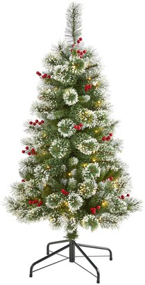 Nearly Natural 4ft. Frosted Swiss Pine Artificial Christmas Tree