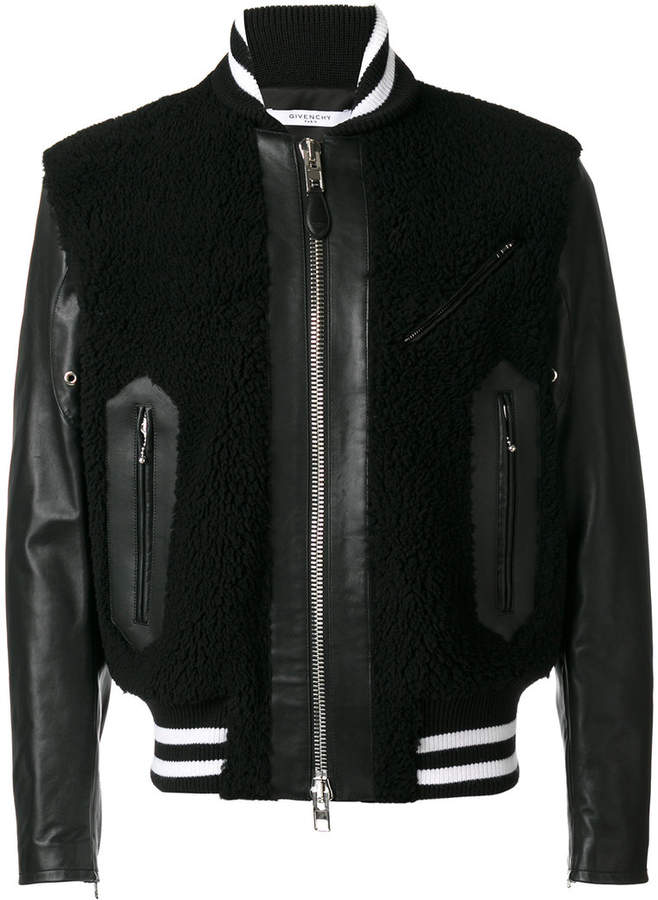 Givenchy shearling panel jacket