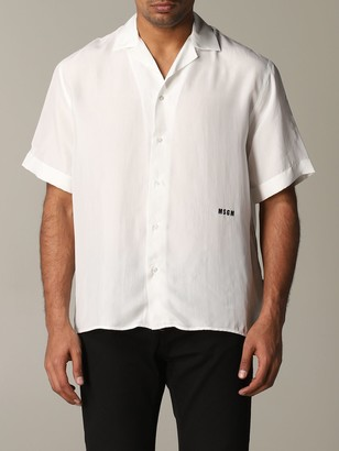 MSGM Shirt With Short Sleeves And Logo