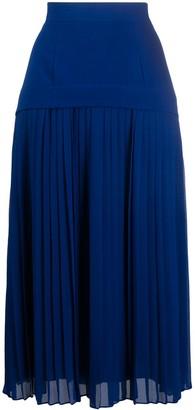 Paul Smith Dropped-Waist Pleated Midi Skirt