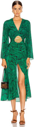 Rixo Indra Dress in Psychedelic Shell & Green Black | FWRD