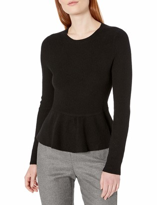 Lark & Ro Amazon Brand Women's 100% Cashmere Soft Peplum Sweater