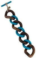 Lanvin Bakelite & Wood Curb Chain Bracelet