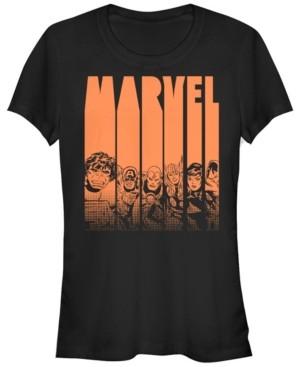 Fifth Sun Marvel Women's Avengers Halloween Logo Character Stencil Short Sleeve Tee Shirt