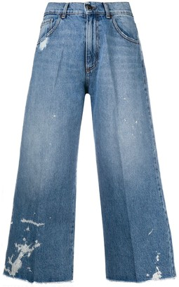 Semi-Couture High-Rise Cropped Jeans