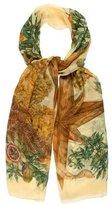 Hermes Passiflores Silk Mousseline Stole