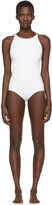 Acne Studios Off-white Halla Open Back Swimsuit