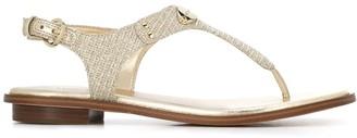 MICHAEL Michael Kors Chain-Mesh Thong Sandals