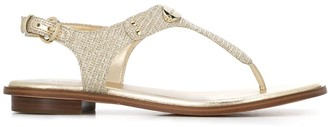 MICHAEL Michael Kors chain-mesh thong sandals