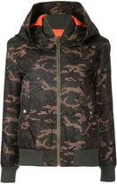 Mr & Mrs Italy camouflage padded jacket