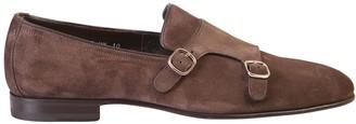 Santoni Suede Leather Monkstrap Shoes