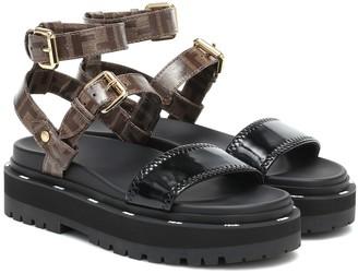 Fendi Neoprene and canvas sandals