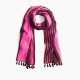 J.Crew Brushed silk striped scarf