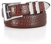 Daniel Cremieux Alligator Print Leather Belt