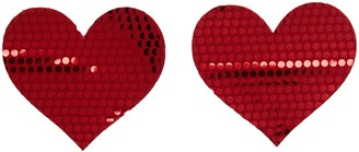 Bristols 6 Nippies by Bristols Shiny Heart Nipple Covers