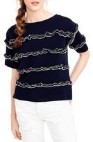 J.Crew Women's Ruffle Boatneck Sweater