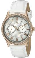 Lucien Piccard Women's LP-10334-RG-02-WHT Brela Analog Display Japanese Quartz White Watch