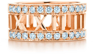 Tiffany & Co. Atlas open ring in 18k rose gold with a diamond