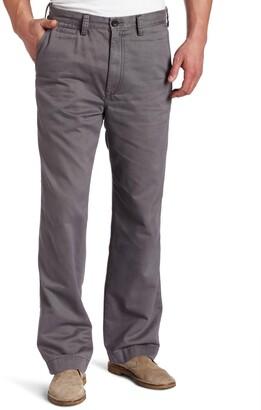 Haggar Men's Big and Tall Life Khaki Relaxed Straight Fit Flat Front Chino Pant Gray 48x34