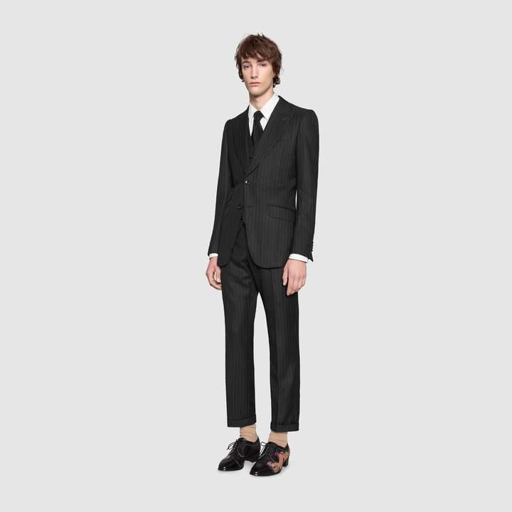 Gucci Mitford stripe wool formal vest