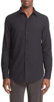 Armani Collezioni Men's Trim Fit Textured Sport Shirt