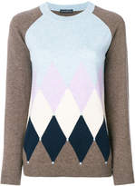Ballantyne diamond intarsia jumper