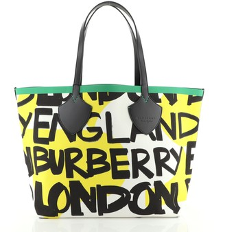 Burberry Reversible Graffiti Giant Tote Printed Canvas XL