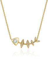 Logan Hollowell - Diamond Fishbone Totem Necklace