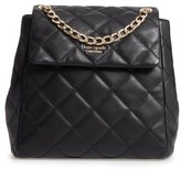 Kate Spade Emerson Place - Martina Quilted Leather Backpack - Black