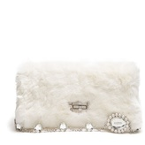 Miu Miu Crystal-embellished fur shoulder bag