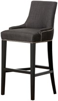 Hudson Fabric Nailhead Trim Bar Stool